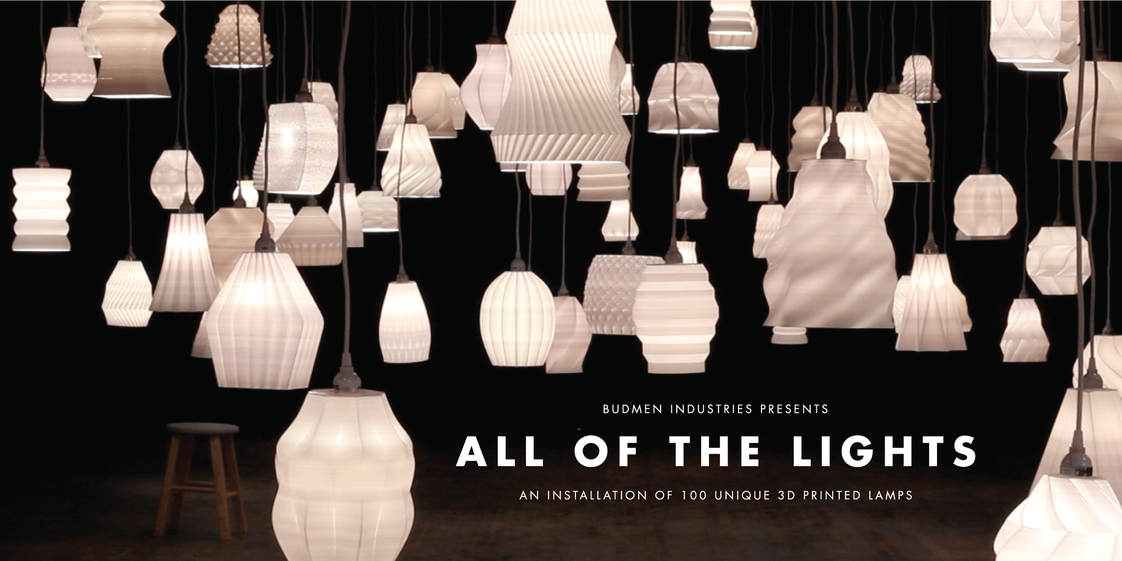 All of the Lights - 100 3D Printed Lamps
