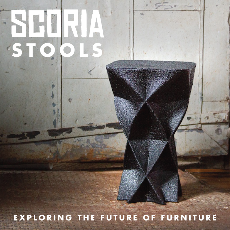 Scoria Stools - 3D Printed Furniture
