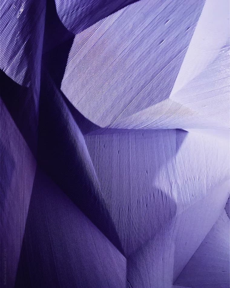 Abstract image of lamp shape in purple hue