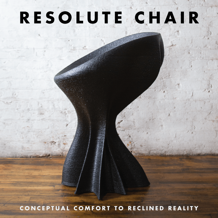 Resolute Chair - Human Scale 3D printed chair